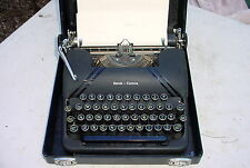 1946 Vintage LC Smith & Corona Typewriter with original case yellow keys