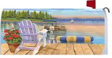 Easy at the Lake Boat Magnetic Mailbox Cover