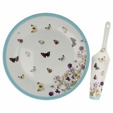 Lesser & Pavey butterfly meadow cake plate & server  LP91062