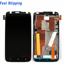 LCD Display Touch Digitizer Screen Assembly + Frame / Bezel For HTC ONE X AT&T