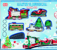 20 Piece Christmas Santa Santa's Musical Toy Train Set Battery 131209