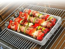 5pc Oven BBQ Skewer Set Kabob Barbeque Ceramic Baking Dish Healthy Cooking Cook