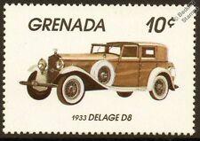 1933 DELAGE D8 Car Automobile Mint Stamp