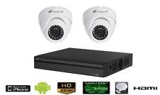 Videoüberwachung SET mit 2 Außen Kameras in HD 720p Auflösung mit Nachtsicht!
