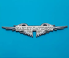 ECUSSON (PATCH)BRODE/ THERMOCOLLANT/ BIKERS HARLEY-DAVIDSON AILES /19,8 X 4,5 CM