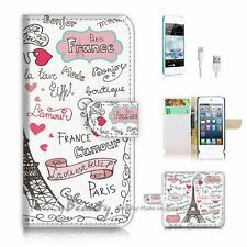 iPod Touch 6 iTouch 6 Flip Wallet Case Cover! P1780 Paris