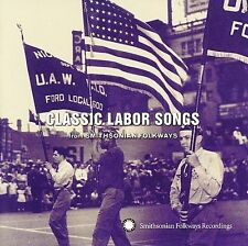 Classic Labor Songs from Smithsonian Folkways by Various Artists *New CD*