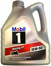 Mobil 1 Racing 4T 15w50 FULLY SYNTHETIC 4L litres NEW motorcycle engine oil