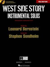 West Side Story Instrumental Solos Viola Piano Sheet Music Book CD Advanced S88