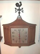 One Large Syroco Roster Weather Vain Wall Clock  Floor Model