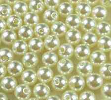 New Cream Acrylic Round Pearl Spacer Loose Beads 400Pcs 4mm