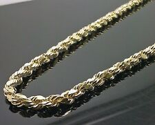 "10K Yellow Gold Men's Rope Chain 30"" 12.2gm 5mm Franco, Italian"