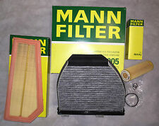 MANN-FILTER KIT FILTRO DE ACEITE+FILTRO DE AIRE + CARBÓN ACTIVADO MERCEDES W212