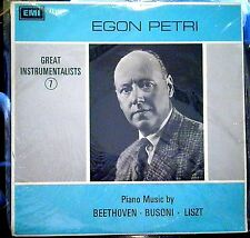 Egon Petri; Music by Beethoven, Busoni, Liszt   EMI/Odeon
