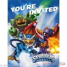 (8) SKYLANDERS GIANTS INVITATIONS AND THANK YOU CARDS ~ Birthday Party Supplies