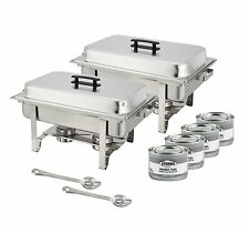 Winco Set of 2 Full Size Chafer, Stainless Steel Chafing Dish Set