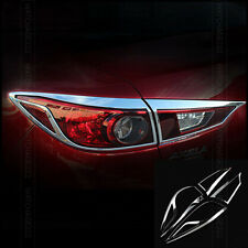 SET FIT FOR MAZDA 3 AXELA CHROME TAIL LIGHT COVER TRIM BEZEL MOLDING SURROUND