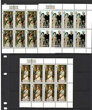 a120 - NIUE - SG615-617 MNH 1986 QEII 60th BIRTHDAY - BLOCKS OF 8 CV £26.00