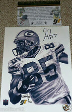 GREEN BAY PACKERS Greg Jennings 85 Autographed 8x10 LE #2 Canvas PHOTO COA HOLO