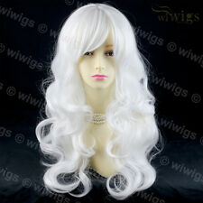 Snow White Long Wavy Cosplay Theater Clubing Skin top Ladies Wigs from WIWIGS UK