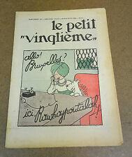 TINTIN / HERGE - LE PETIT VINGTIEME - SUPPLEMENT - N° 10 - 1934 (SUPERBE ETAT)