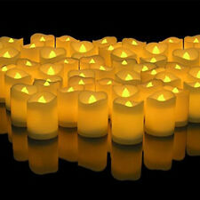 48x LED Flameless Votive Candles Battery Operated Flickering Tealights Tea Light