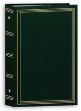 "3-ring pocket HUNTER-GREEN album for 504 photos - 4""x6"", New, Free Shipping"