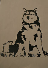 20CM ALASKAN MALAMUTE SILHOUETTE STICKER DECAL SLED DOG DOGS BLACK