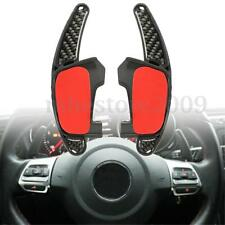 Carbon Fibre Gear Shift Steering Wheel Extension Paddle For VW Golf MK7 GTI GTD