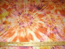 "Multicolor Orange/Pink/Gold Tie Dye 2 Way Stretch Poly Lycra Fabric 58"" W BTY"