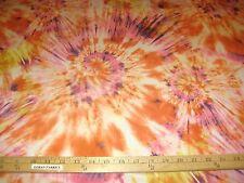 "Multicolor Orange/Pink/Gold Tie Dye 2 Way Stretch Poly Lycra Fabric 58"" W BTY"