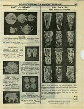 1932 PAPER AD Hand Painted  Pottery Wall Pockets Tea Sets Pots Vases Windmill