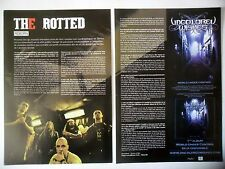 COUPURE DE PRESSE-CLIPPING :  THE ROTTED [2pages]2008 Tim,Get Dead or Die Trying