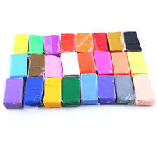 24 pcs Soft Moulding Craft Colorful Fimo Effect Polymer Clay Blocks Creative Fun