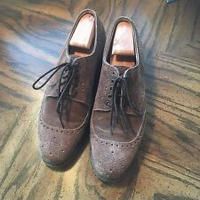 Edward Green Brown Suede Dress Shoes Oxfords Size UK 9, US 8.5/9, England