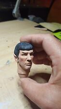 Custom painted star trek Mr spock head for 12 inch figure