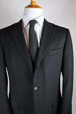 Recent Ermenegildo Zegna Black Suit Mens Size 42R 3 Button Dual Vent Wool
