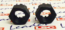 Vauxhall CALIBRA CAVALIER VX220 NOVA COMBO - 20MM / M20 SLOTTED NUTS x2 - NEW