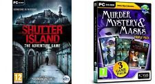 Murder,Mystery and Masks Triple  & shutter island the adventure game  new&sealed