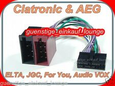 CLATRONIC AEG  PROLOGY Autoradio Kabel Radio Adapter Stecker ISO