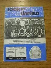 25/02/1978 Linfield v Glentoran [Northern Ireland Cup] (Creased, Marked, Team Ch
