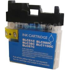 1 compatible BROTHER LC-1100 C CYAN/blue printer ink cartridge - VAT INVOICE.