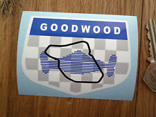GOODWOOD CIRCUIT Les Leston Style Classic Car Sticker Race Racing British Bike