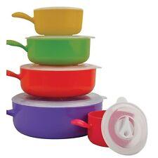 10pc contenitori di cibo Microonde Cucina Ciotola Coperchio Contenitori Set Pot Pan e Coperchi