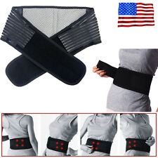 Infrared Self Heat Back Support Lumbar Brace Belt Double Pull Strap Lower Pain A