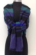 New Blanket Oversized Tartan Scarf Wrap Shawl Plaid Pashmina Soft UNISEX Blue