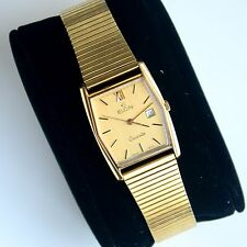 Vintage ELGIN 7 Jewels Swiss Made Quartz Men's Watch Working Great!!!