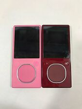 AS-IS Lot of 3 Microsoft Zune Digital Media MP3 Player (For parts) 4GB AND 8GB