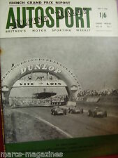 AUTOSPORT JULY 7 1961 ALPINE RALLY FRENCH GRAND PRIX PLYMOUTH NATIONAL RALLY