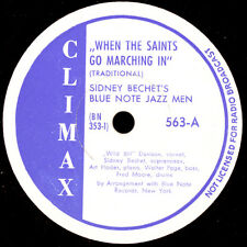 SIDNEY BECHET'S BLUE NOTE JAZZ MEN When the Saints go marching in 78rpm  X3122